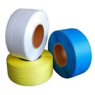"1/2"" x 350# 8x8 White Machine Grade Poly Strapping-Lamar Packaging Supplies Inc"