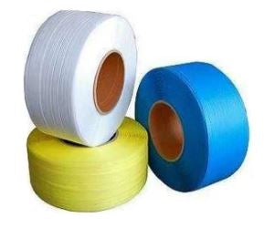 "3/8"" x 300# 8x8 White Machine Grade Poly Strapping-Lamar Packaging Supplies Inc"
