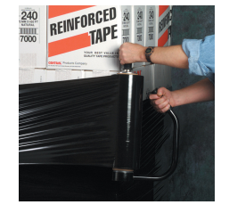 "18"" x 1500' 80ga Black Stretch Wrap - 4rls/cs - $16.25/roll-Lamar Packaging Supplies Inc"