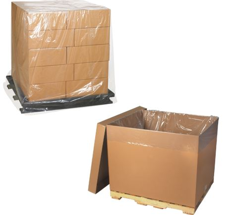 "32"" x 28"" x 48"" thru 36"" x 36"" x 72"" - 2 Mil Clear Gaylord Liners - Pallet Covers-Gaylord Liner, Gaylord Bag-Lamar Packaging Supplies Inc"