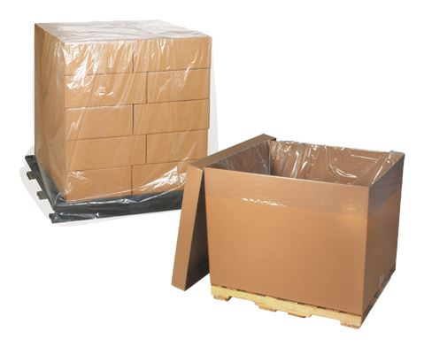 "51"" x 49"" x 73"" thru 58"" x 46"" x 108"" - 1.5 Mil Clear Gaylord Liners - Pallet Covers-Gaylord Liner, Gaylord Bag-Lamar Packaging Supplies Inc"
