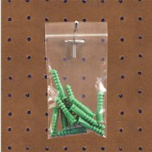 2 Mil Reclosable Poly Bags w/ Hang Hole 1,000/cs-ziplock bag-Lamar Packaging Supplies Inc