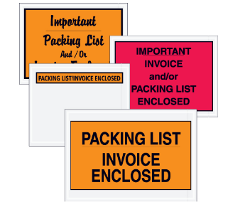 "Packing List/Invoice Enclosed"" Envelopes - 1,000 per case-invoice enclosed-Lamar Packaging Supplies Inc"
