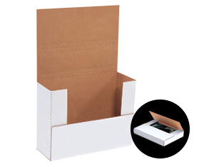 "WHITE 12-1/8"" x 9-1/8""-thru- 14-1/4"" x 11-1/4"" Easy-Fold Mailers - 50/bundle-Lamar Packaging Supplies Inc"