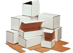 "WHITE - 15"" x 2"" x 2"" - thru - 36-1/4"" x 4-7/8"" x 4"" Corrugated Mailers - 50/bundle-Lamar Packaging Supplies Inc"