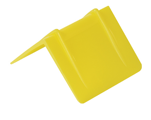 RED, YELLOW & BLUE - Plastic Strap Guards - 1,000/case-plastic strap guards-Lamar Packaging Supplies Inc
