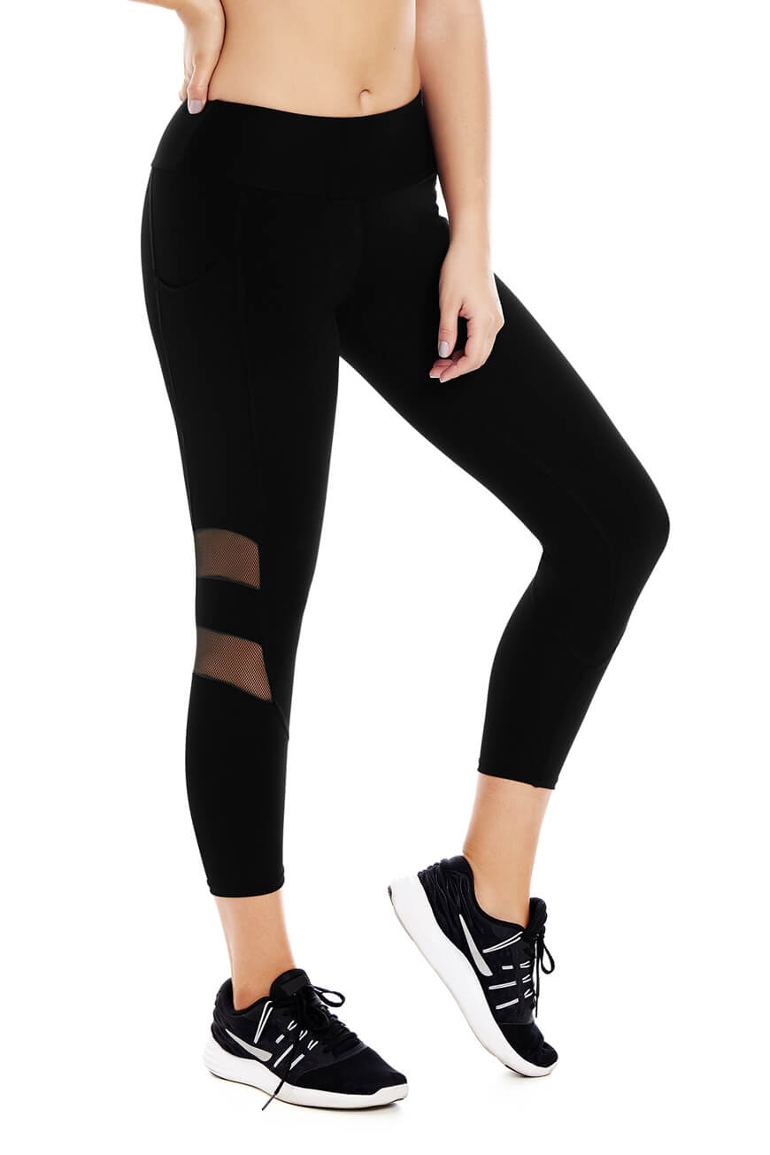 Active Cropped Leggings CHA22969 | Women's Activewear | Chamela | Curveez US