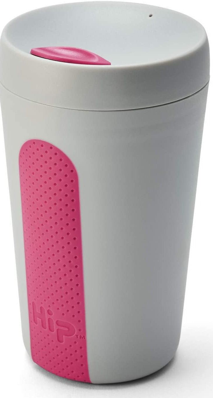 Hip Reusable Coffee Cup (White & Pink)