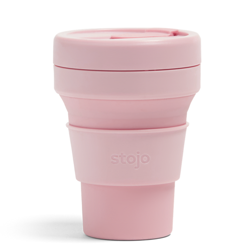 8oz Stojo Collapsible Cup (Carnation)