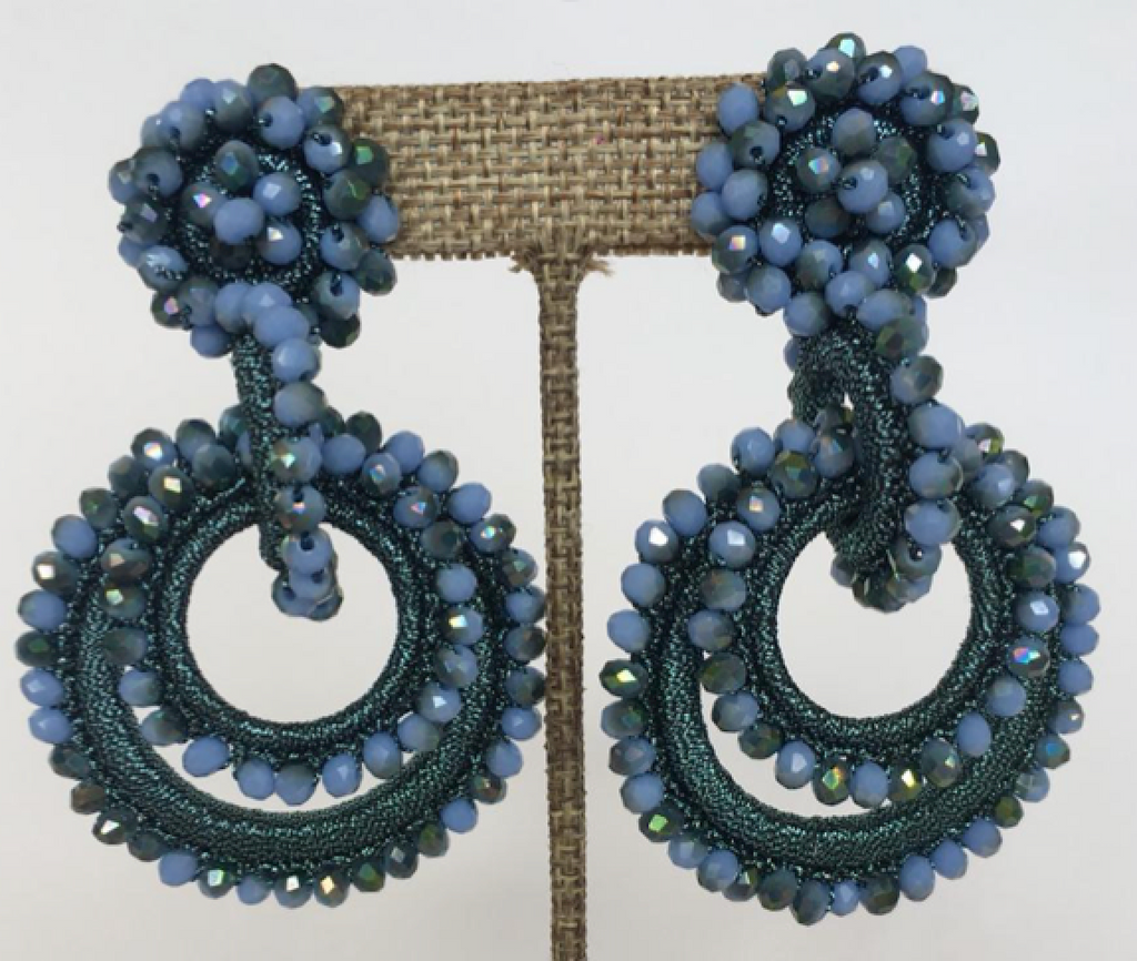 Mini SunDrop Bead and Silk Earrings