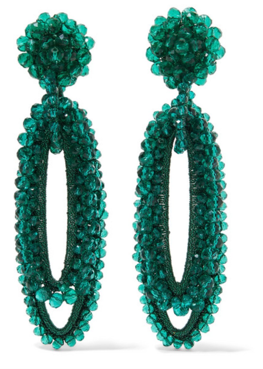 Bell Bead and Silk Earrings