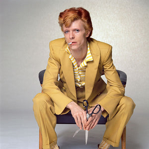 David Bowie - Yellow Suit 1974 Print Signed by Terry O'Neill