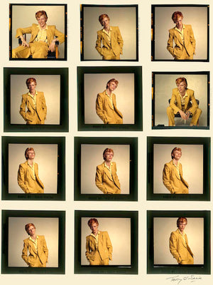 Terry O'Neill – 1974, Mustard Suit Scarf