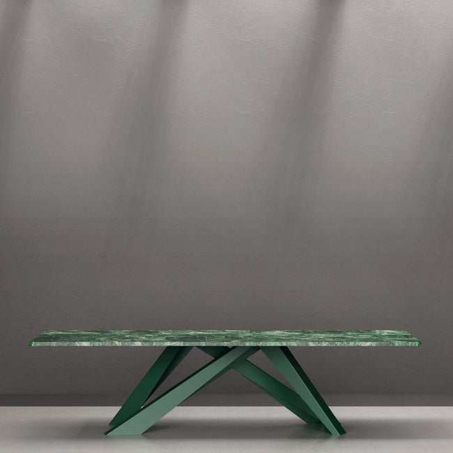 bonaldo big table 200 - green marble tabletop | ikontitaly