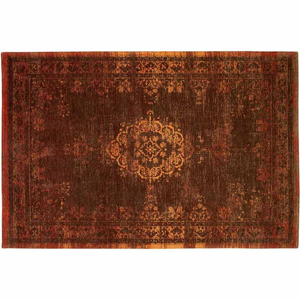 carpet edition the fading world - design medallion 01 contemporary rug 8264 dark pumpkin | ikonitaly