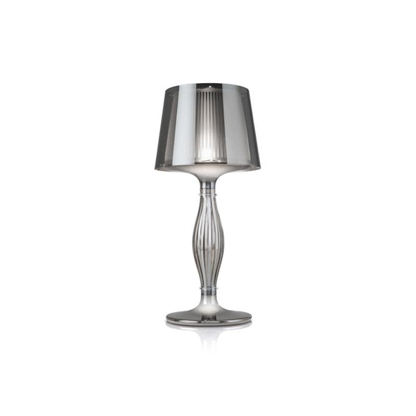 slamp liza table lamp pewter colour, techno-polymer material | shop online ikonitaly