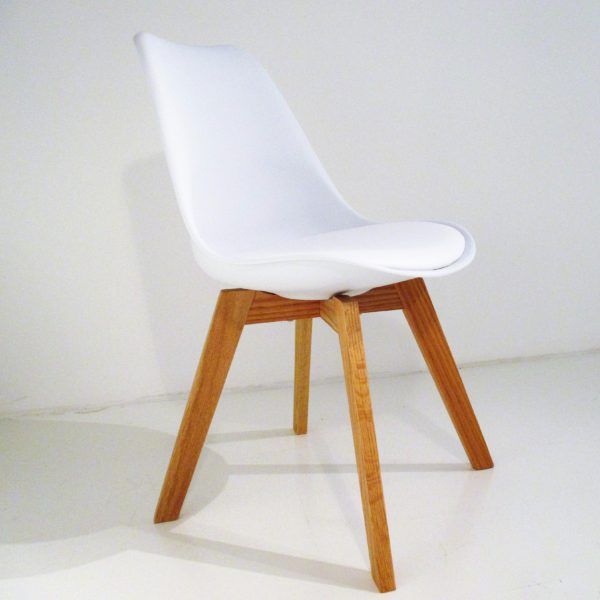 altacorte space chair in white eco-leather | ikonitaly