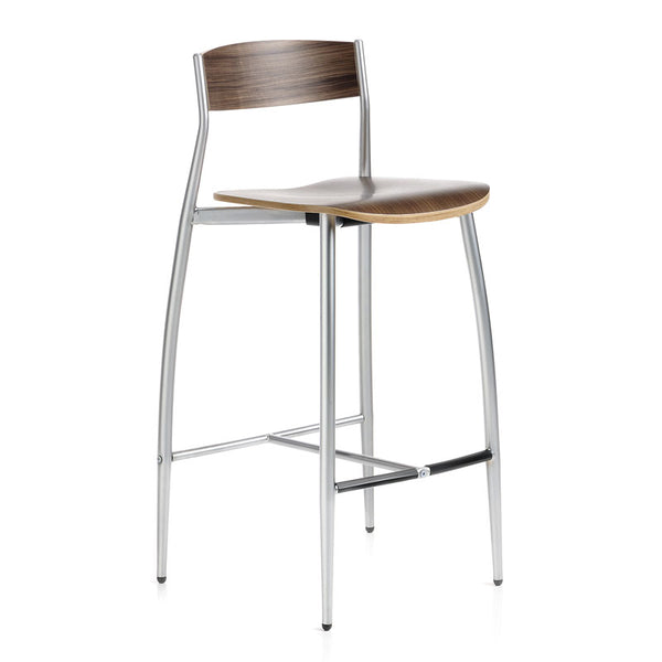 altek baba counter stool - canaletto walnut wood side view | clint eastwood chair | ikonitaly