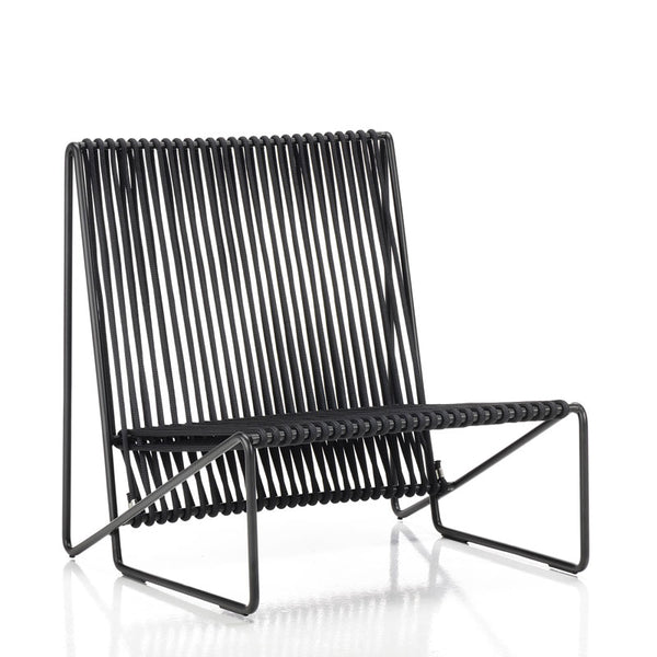 altek rada outdoor rope lounge chair | black iron structure | ikonitaly