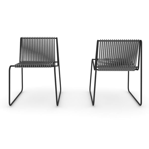 altek rada outdoor rope side chair | rod iron structure | ikonitaly