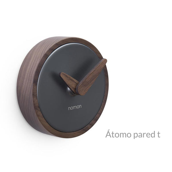 nomon atomo pared t minimalist wall clock- walnut wood | shop online ikonitaly