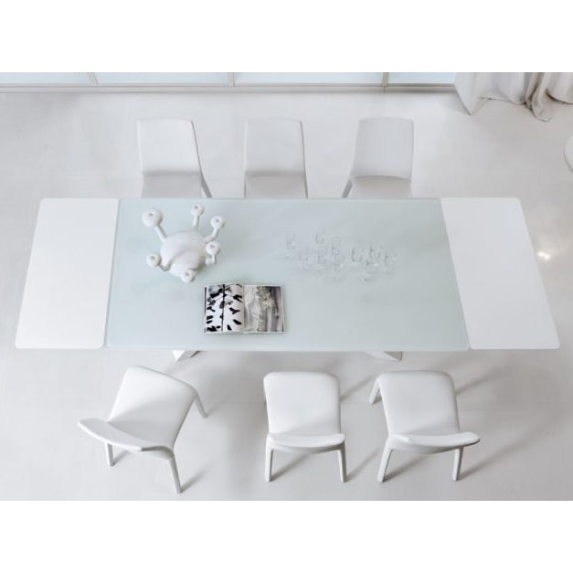 bonaldo big table (extendable) iconic - glass tabletop | shop online ikonitaly