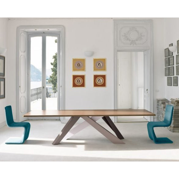 bonaldo big table 03 iconic - walnut wood | shop online ikonitaly