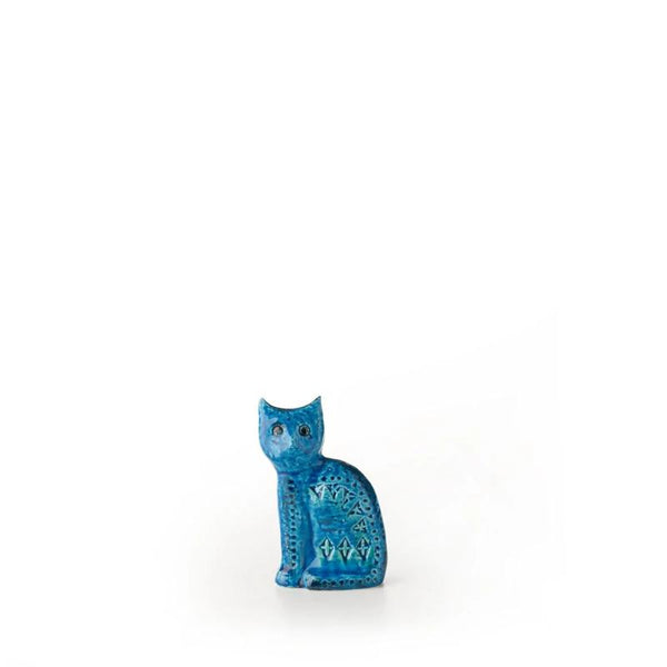 bitossi sitting cat figure ZZ999-119 | italian design pottery | ikonitaly