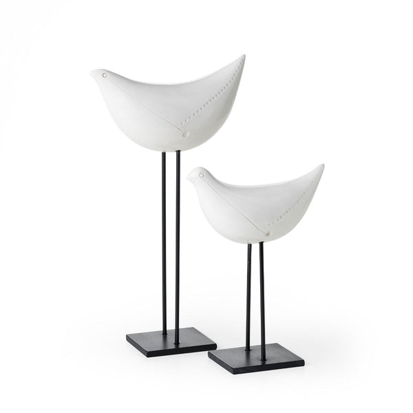 bitossi ZZ2JW-310 sculpture pair of white birds | ikonitaly