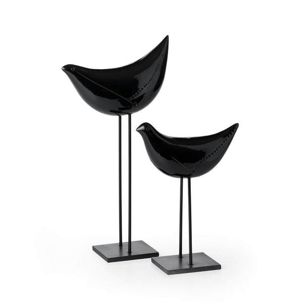 bitossi ZZ2JY-310 sculpture pair of black birds | ikonitaly