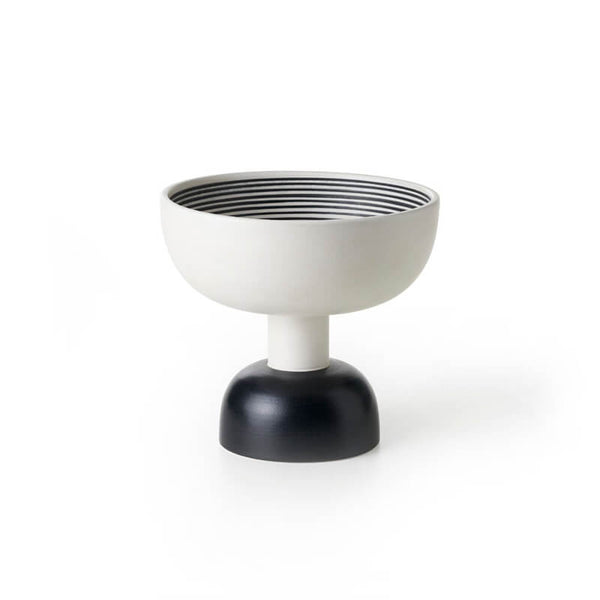 bitossi ZZ66A-501 two-toned matt raised bowl designed by Sottsass | ikonitaly