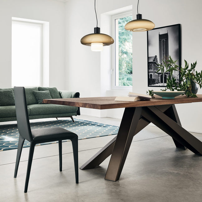 bonaldo big table 220 wood dining room table