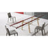 bonaldo tracks extendable contemporary table - red parallel beams, glass top | shop online ikonitaly