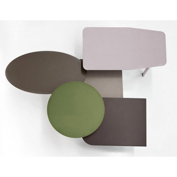 ikoninstock | bonaldo collage small painted metal tables | ikonitaly