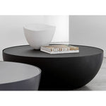 bonaldo planet contemporary round low coffee table