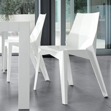 bonaldo poly chair - polished polyamide white | shop online ikonitaly