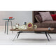 bonaldo tie low coffee table with metal base