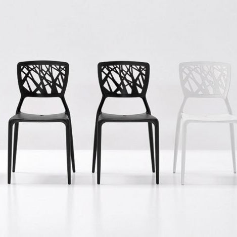 bonaldo viento chair - two charcoal and one white | shop online ikonitaly