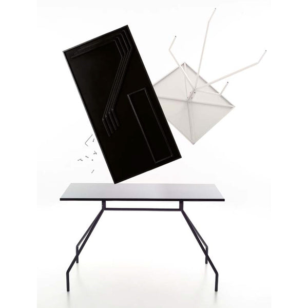 danese milano rizzato x-y rectangular tables | white, black | ikonitaly