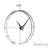 nomon doble o g minimalist wall clock - structure in polished steel | shop online ikonitaly