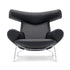 erik jorgensen ox chair iconic lounge chair - black leather | ikonitaly