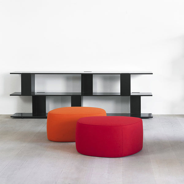 erik jorgensen insula pouf contemporary furniture red and orange | ikonitaly