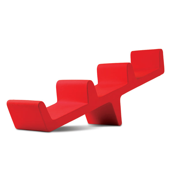 erik jorgensen seesaw iconic piece - red, artist Louise Campbell | ikonitaly