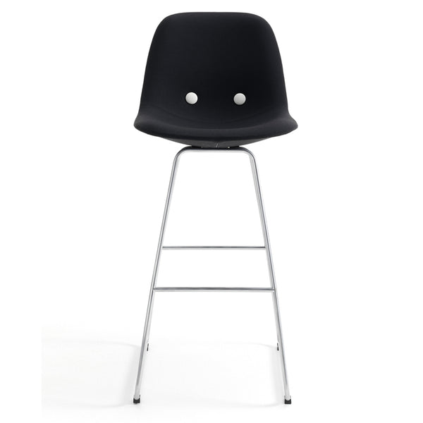 erik jørgensen eyes bar iconic high stool - black | shop online ikonitaly