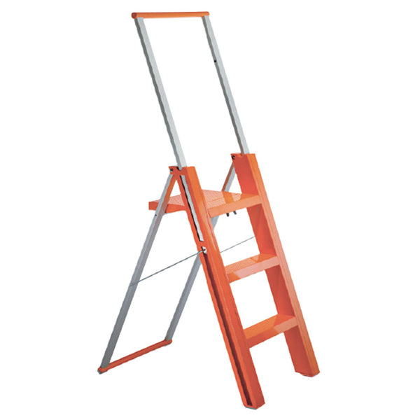 magis flò design folding ladder orange | ikonitaly