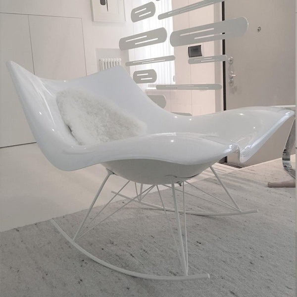 fredericia stingray iconic lounge chair - white side | vintage ikonitaly
