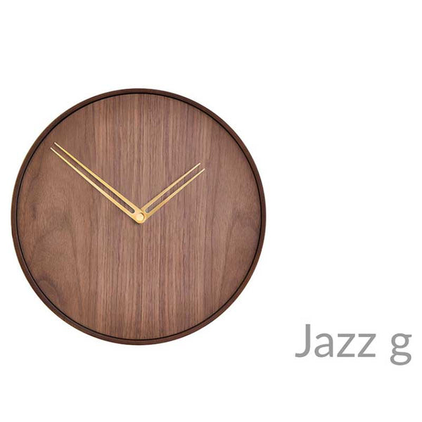 nomon jazz g | contemporary wall clock in wood | ikonitaly