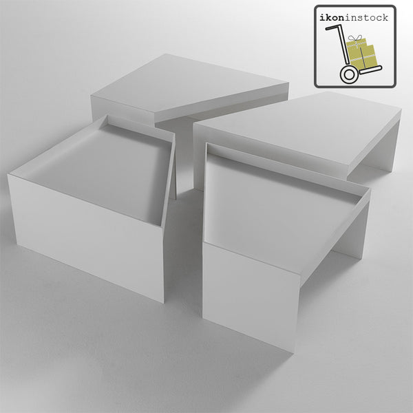 ikoninstock | lema combo low tables - white | shop online ikonitaly