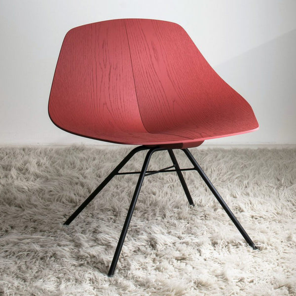 lema wing lounge chair - red | shop online ikonitaly