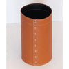 limac design battista leather waste paper basket - brown | ikonitaly